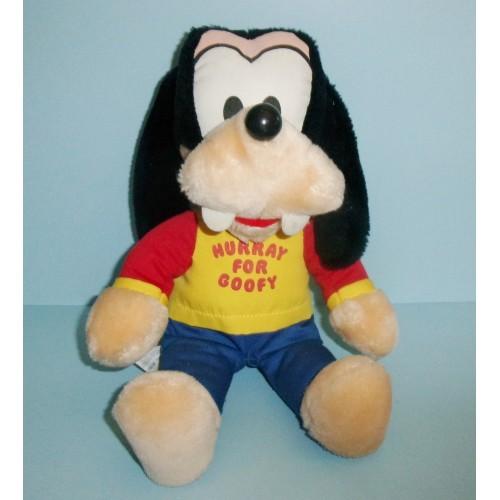 Disney Knickerbocker Plush Goofy The Dog Hurray For Goofy Vintage