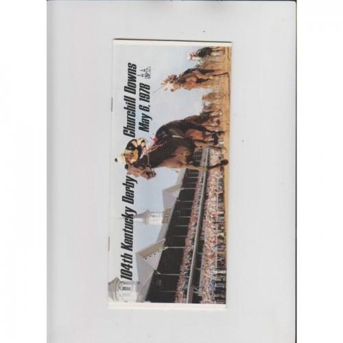 1978 Kentucky Derby Churchill Downs Program NM/M Affirmed/Alydar Churchill Downs