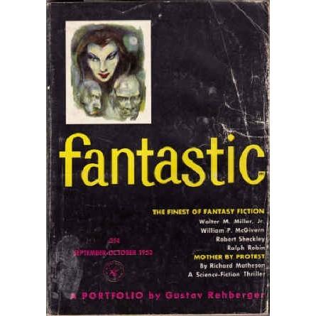 FANTASTIC 1953/ 8 Sturgeon/Sheckley/Evelyn Waugh