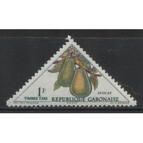 1962  Gabon  1 Fr.  postage due issue  mint**,  Scott # J36