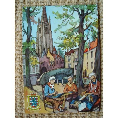 BELGIUM - Brugge - Bruges - lacemakers - church #B008