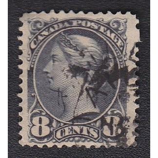 Canada 44 Victoria 8c Small Queen CV = 4.75$