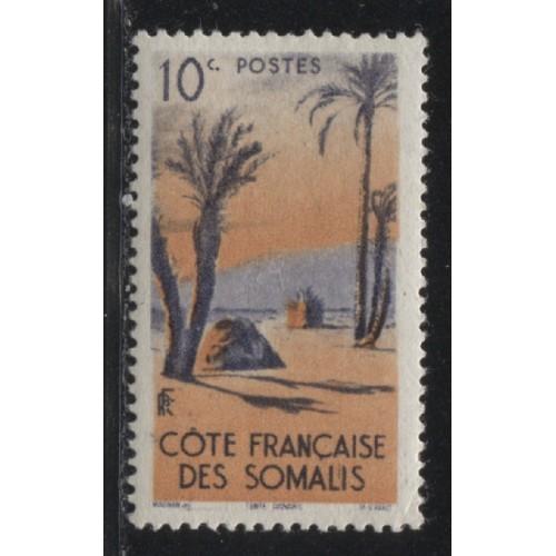 1947  SOMALI COAST  10 c. Danakil Tent  mint*, Scott # 248