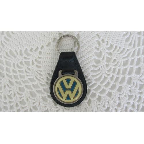 Vintage Volkswagen suede keychain circa 1960's