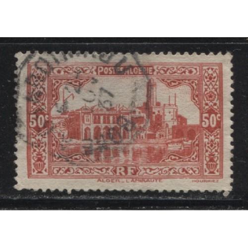 1936  FRENCH ALGERIA   50 c. Admiarity Building, Algiers  used,  Scott # 90