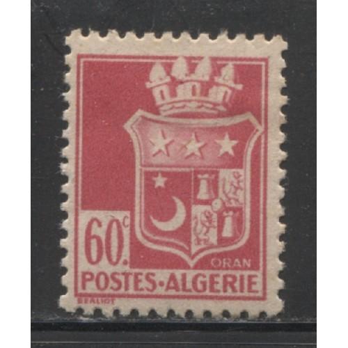 1943  FRENCH ALGERIA  60 c.  Arms of Oran  mint*,  Scott # 139