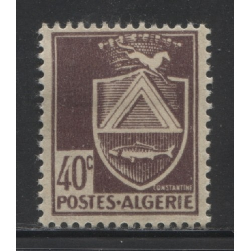 1945  FRENCH ALGERIA  40 c.  Arms of Constantine  mint*,  Scott # 149