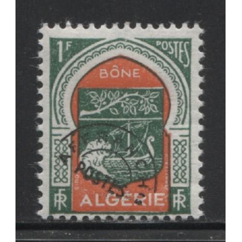 1956  FRENCH ALGERIA  1 Fr.  Arms of Bone  mint*,  Scott # 274