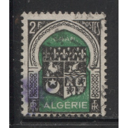 1947  FRENCH ALGERIA  2 Fr.  Arms of Oran  used,  Scott # 215