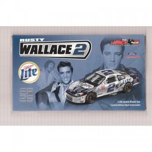 1:24 Rusty Wallace Miller Lite 2002 Action ELVIS PRESLEY 25th Ann NIB NASCAR