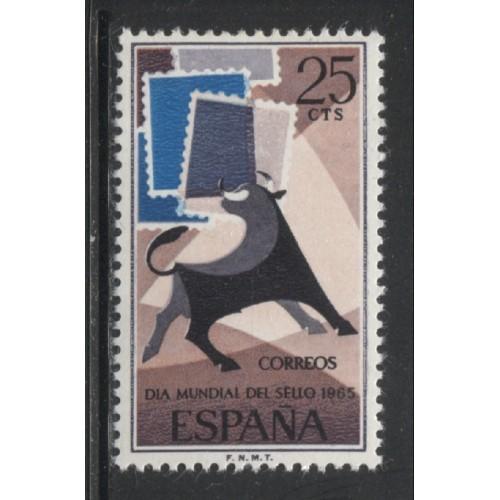 1965 SPAIN   25 c. Stamp Day  issue  mint*, Scott # 1306