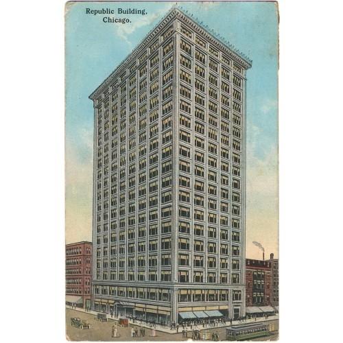 USA - Chicago 1914 - tram - oldtimers -Republic Bldg. #TR021