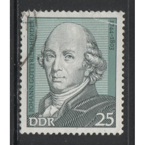 1974 DDR  25 Pf.  Johann Gottlieb Herder  used, Scott # 1544
