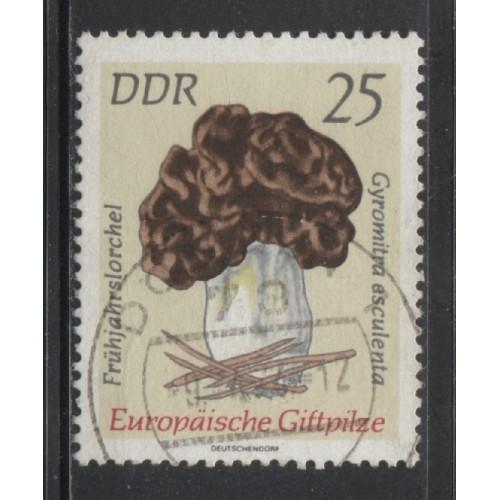 1974 DDR  25 Pf.  Poisonous European Mushrooms used, Scott # 1537