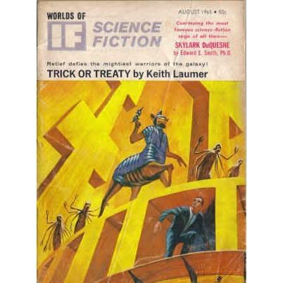 WORLDS OF IF 1965/ 8 Doc Smith, Brunner, Laumer