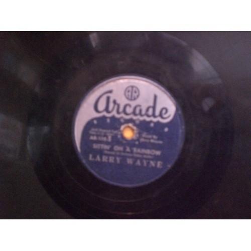 78 RPM: #2853.. LARRY WAYNE - LOUISIANA SHUFFLE & SITTIN' ON A RAINBOW / VG /