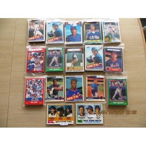 240+ 1980's-1990's New York Mets Baseball cards