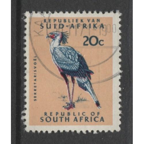 1968 SOUTH AFRICA  20 c.  Secretary Bird  used, Scott # 340