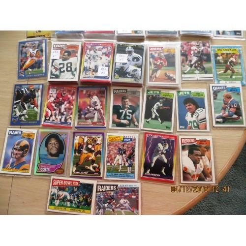 190+-1987-2002 AFL & NFL Football cards + bonus