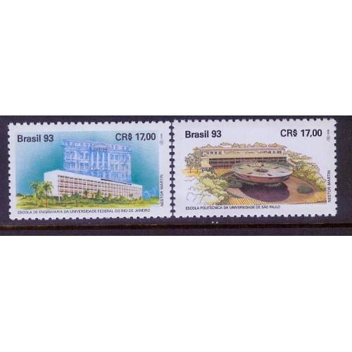 Brazil (1993) Sc# 2417-8 MNH (Education: School of Engineering)