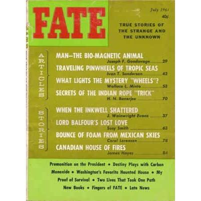 FATE Magazine 1964/ 7 Mysterious Sea Pinwheel