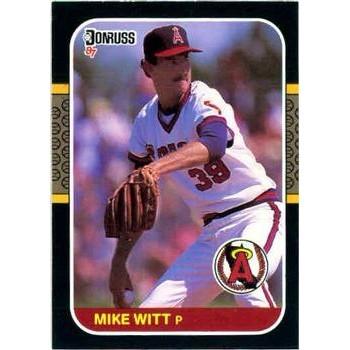Mike Witt 1987 Donruss Baseball Card California Angels