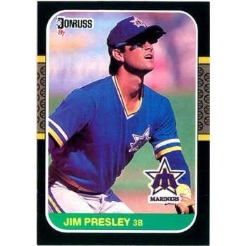 Jim Presley 1987 Donruss Baseball Card Seattle Mariners