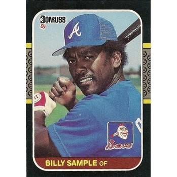 Billy Sample - Atlanta Braves 1987 Donruss Baseball Card