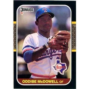 Oddibe McDowell - Texas Rangers 1987 Donruss Baseball Card