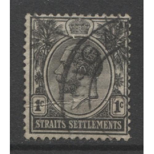1918  STRAITS SETTLEMENTS  1 c.  King Edward VII   used,  Scott # 150