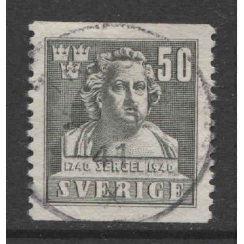 1940 SWEDEN   50 o. Tobias Sergel  used, Scott # 315