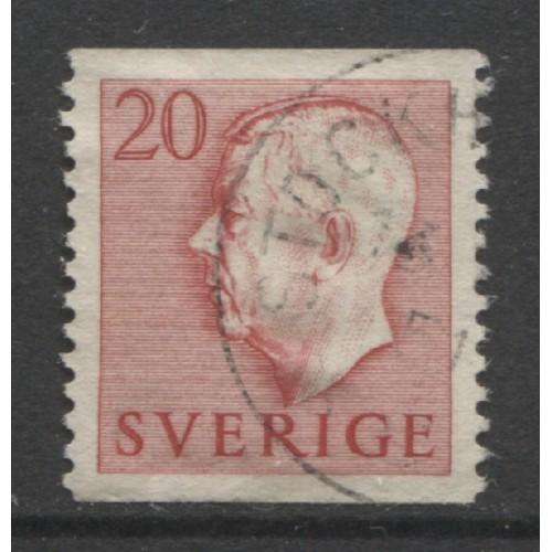 1951 SWEDEN   20 o. King Gustaf  VI  used, Scott # 420