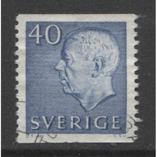 1964 SWEDEN   40 o. King Gustaf VI  used, Scott # 649
