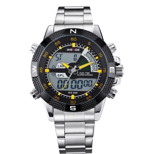 WEIDE WH1104 Dual LCD Digital/Analog Watch. 30M Water Resistant. Japanese Quartz