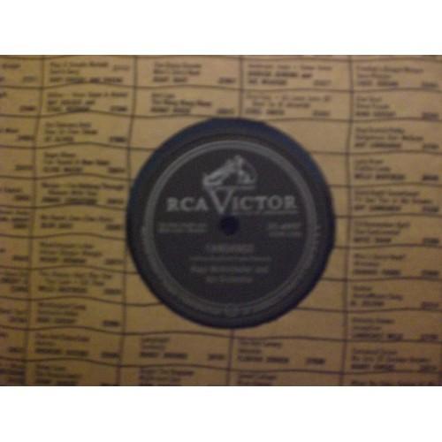 78 RPM: #3345 HUGO WINTERHALTER & ORCH - FANDANGO & BLUE VIOLINS / VG+ / RCA VIC
