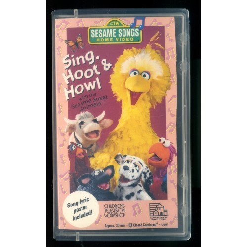 """SING, HOOT & HOWL"" w/Sesame Street Animals - Sesame Songs Home Video"
