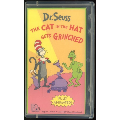 "VHS-""Dr. Seuss-THE CAT IN THE HAT GETS GRINCHED""- Lightly Used-1982"