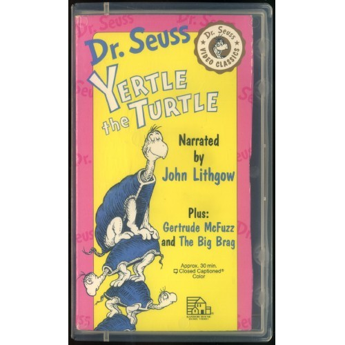 "VHS-""Dr. Seuss-Dr. Seuss - Yertle the Turtle""- Lightly Used-1982"