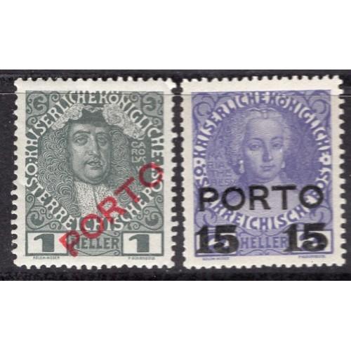 Austria (1916) Sc# J47-8 MH
