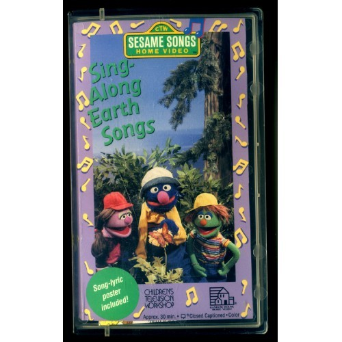 "VHS-Sesame Songs ""SING ALONG EARTH SONGS"" Childrens Television Workshop-1993"