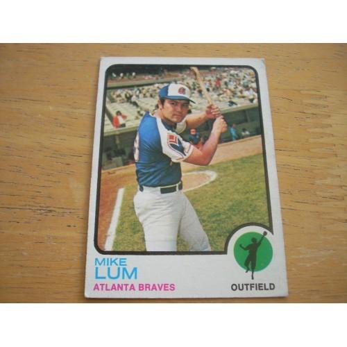 1973 Baseball Card 266 Mike Lum Nice Shape