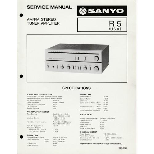 Sanyo - R5 Receiver Service Manual