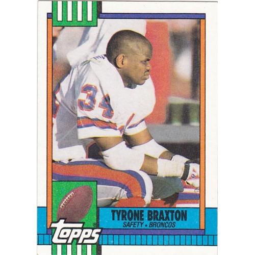 Tyrone Braxton - Broncos 1990 Topps Football Trading Card #30