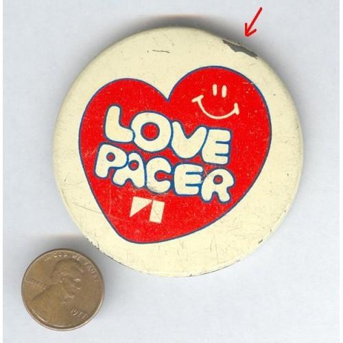 AMC Car Logo Love Pacer (American Motors) Pin Pinback Button