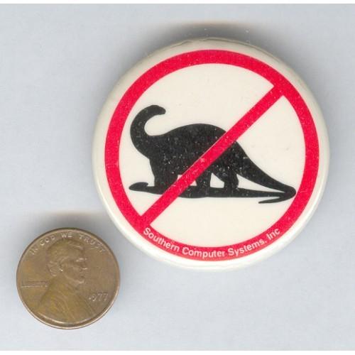 No Dinosaurs Logo Button Pin pinback button