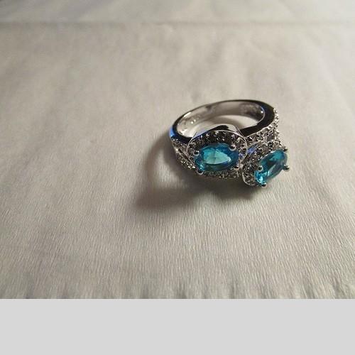 925 Blue Topaz Ring