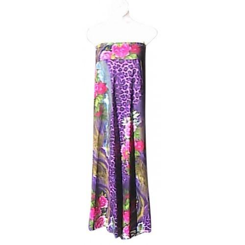 Haoohu Floral Strapless (s12) Maxi Dress