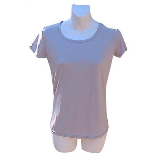 Huajinv shishang Light Gray Short Sleeve Shirt Top