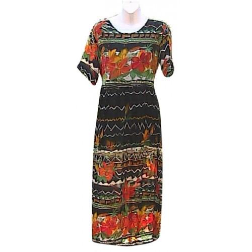 MPH Short Sleeve Rayon Summer Maxi Dress
