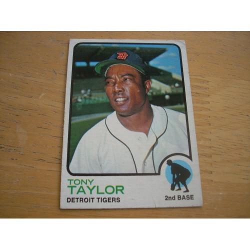 1973 Baseball Card 29 Tony Taylor Tigers Nice Shape